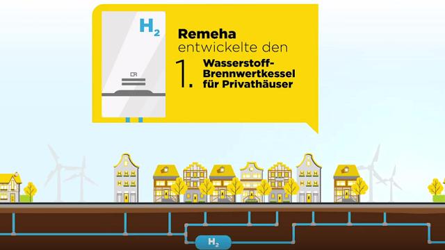 Erster Wasserstoff-Brennwertkessel von Remeha