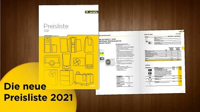 Remeha Preisliste 2021