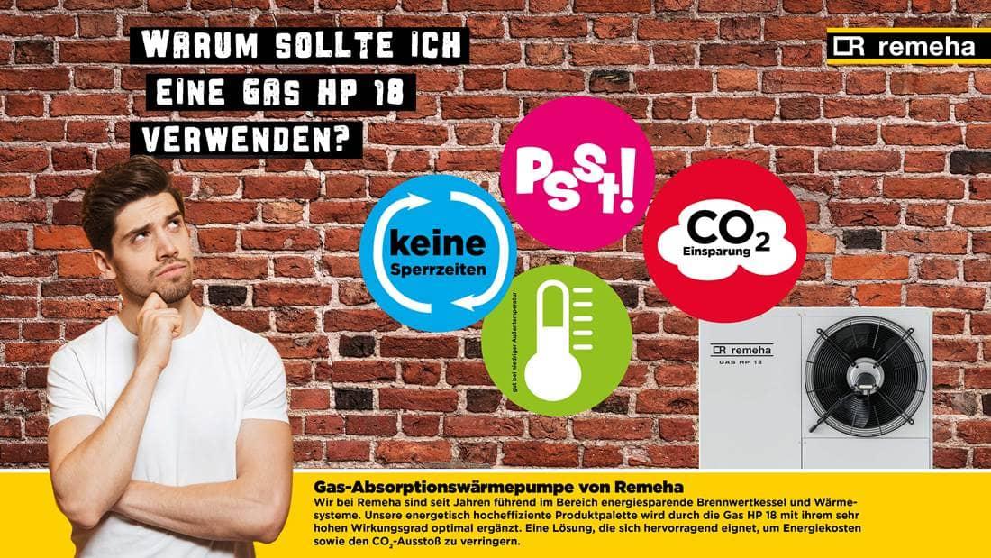 Vorteile Wärmepumpe Gas HP 18 - Remeha GmbH